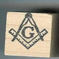 Mason logo Masonic rubber stamp medium