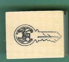Vintage Style Key rubber stamp