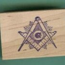 Mason logo Masonic rubber stamps large with rays