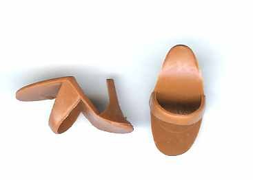 Barbie Open Toe Heels Shoes Pumps Brown Vintage Malaysia