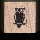 Mini Owl Halloween rubber stamp Free shipping