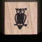 Mini Owl Halloween rubber stamp Free shipping