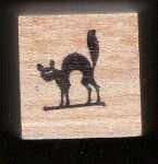 Black Cat Halloween rubber stamp free shipping
