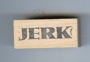 Jerk word name saying rubbber stamp