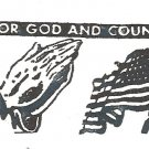 For God & Country rubber stamp Made IN USA