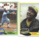 100 - 1981 Topps baseball cards Bundle different LOT