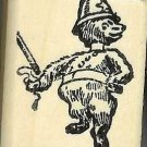 Long necked Bear Cop Policeman billy club rubber stamp