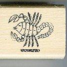 Scorpio Zodiac Sign Rubber Stamp 1960's Oct 23-Nov 21