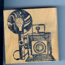 Graphic Graflex Top Range Camera Rubber Stamp With Flash
