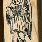ArchAngel Gabriel  rubber stamp large Arch Angel book L