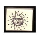Sun Man face rubber stamp Wonderful vintage design