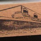 Ocean Liner cruise ship vintage come sail with me !! Rubber Stamp