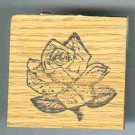Rose flower head  Rubber Stamp