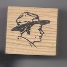 Side view Boy Scout Head rubber stamp