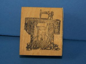 Vintage treadle sewing machine Rubber stamp