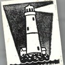 Lighthouse Shining its light rubber stamp light house coastal waterfront night