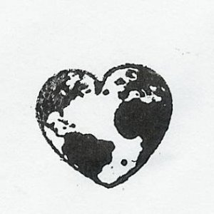 Heart world rubber stamp gotta love the earth we are on !