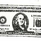 $100 dollar bill vintage style rubber stamp