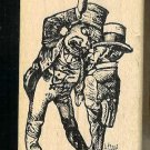 2 Clowns Rubber Stamp made in america free shipping