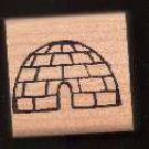 Igloo eskimo house  rubber stamp