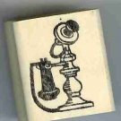 Candlestick telephone phone Rubber Stamp made in america free shipping