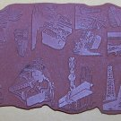 Working Industrial Building farming Rubber Stamps small- tiny 12 unmounted