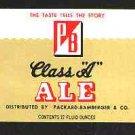 """P/B Class """"A"""" Ale Label 12oz."""