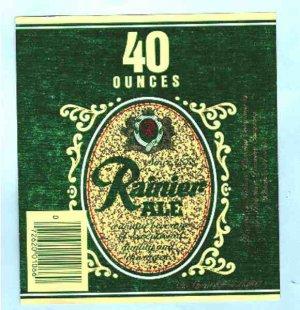 Rainier Ale Label 40oz.