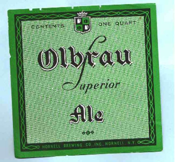 OLBRAU Supior Ale Label 32oz