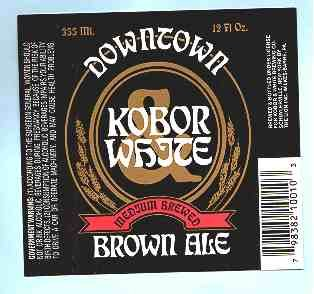 DOWNTOWN Brown Ale Label12oz.