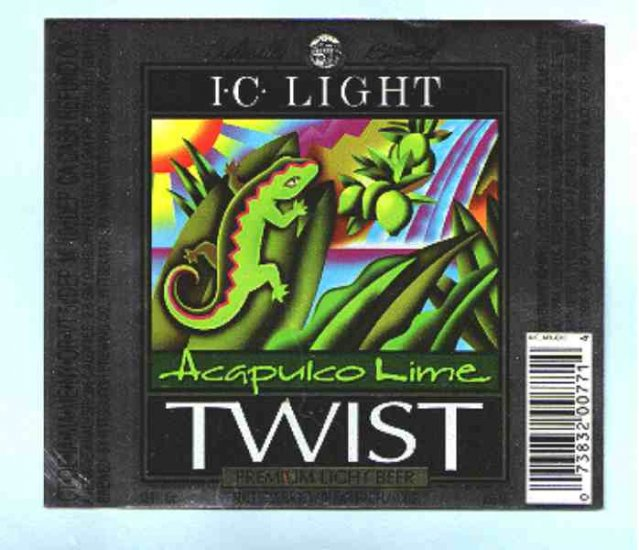 I.C.LIGHT Acapuko Lime Twist Beer  Label 12oz