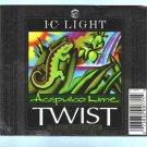 I.C.LIGHT Acapuko Lime Twist Beer  Label 12oz