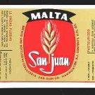 MALTA SAN JUAN Label 12oz