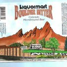 LIQUORMART Boulder Bitter Beer Label 1 Pint 6 Fl.oz.