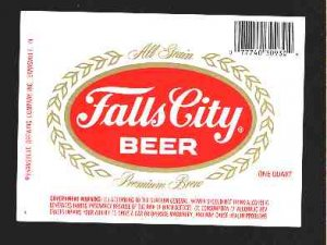 FALLS CITY Beer Label 32oz.