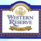 WESTERN RESERVE American Wheat Beer Label 12oz.