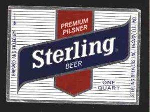 STERLING BEER Label 32oz