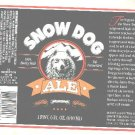 SNOW DOG Ale Label / 1 Pint 6oz.