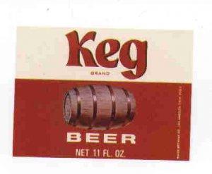 KEG Beer Label / 11oz
