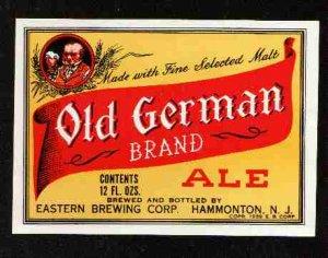 OLD GERMAN Ale Label IRTP /12oz.