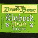 EINBOCK Draft Bock beer Label / 11oz