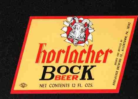 HORLACHER Bock Beer Label /12oz.