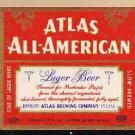 ATLAS ALL-AMERICAN IRTP Beer Label /12oz