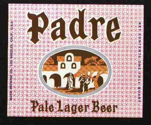 PADRE Pale Lager Beer Label / 32oz.