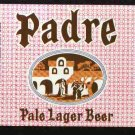 PADRE Pale Lager Beer Label / 32oz.