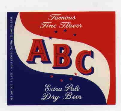 ABC Beer Label / 11oz