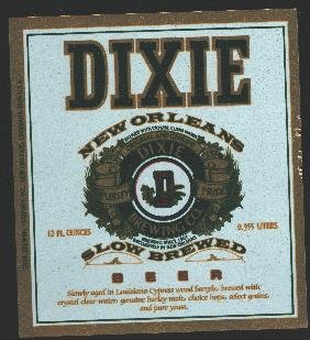 DIXIE Slow Brewed Beer Label /12oz