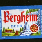 BERGHEIM Beer Label / 16oz.