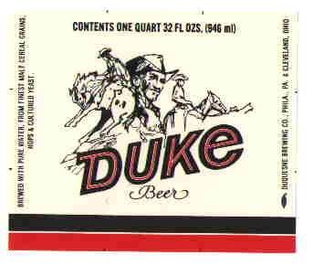 DUKE Beer Label / 32oz