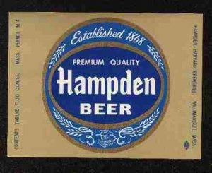 HAMPDEN Beer Label / 32oz.